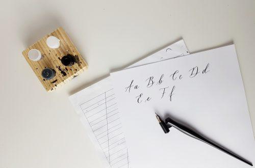 Kalligraphie Linienblatt