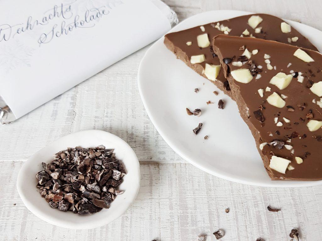 Bruchschokolade und Weihnachtsschokolade: ein Last-Minute Weihnachtsgeschenk