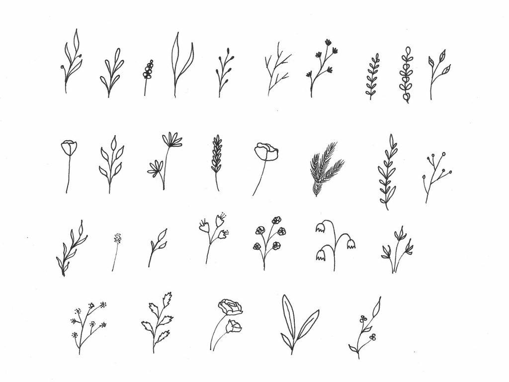 Inspirationen für Blumen für einen Blumenkranz