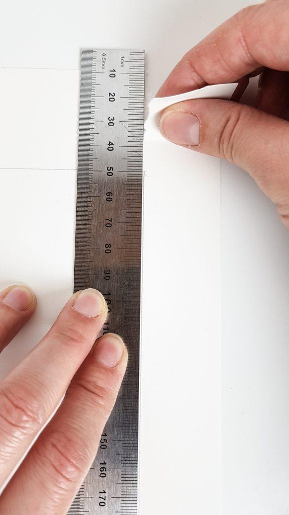 1-2 cm weiter unten nachfassen und wieder reißen