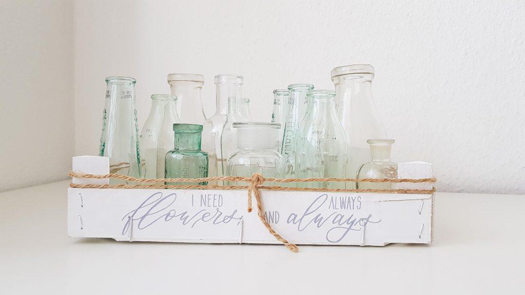 Kiste mit Flaschen