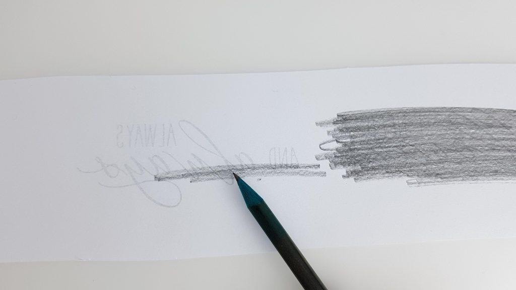 Schriftzug Kalligraphie mit Bleistift