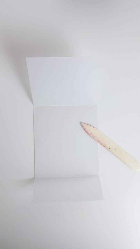 Banderole für DIY-Gutschein falzen