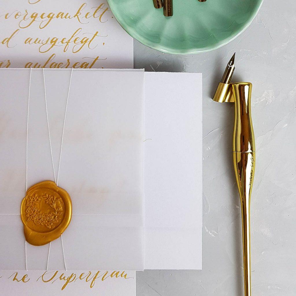 selbst gestalteter Gutschein mit Kalligraphie oder Lettering