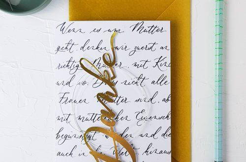 Muttertagskarte selber machen mit Handlettering