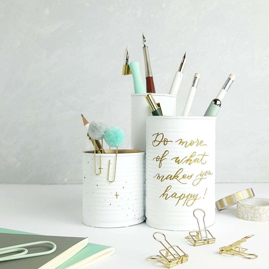 DIY Idee Stifteständer mit Upcycling