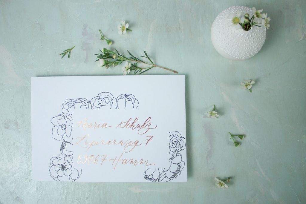 Briefumschlag dekorieren