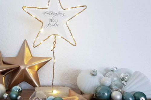Weihnachtsdeko basteln Stern