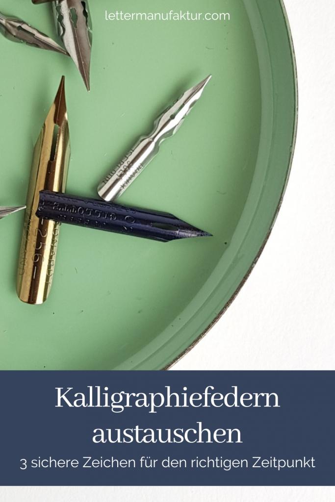 Kalligraphiefedern austauschen Pinterest